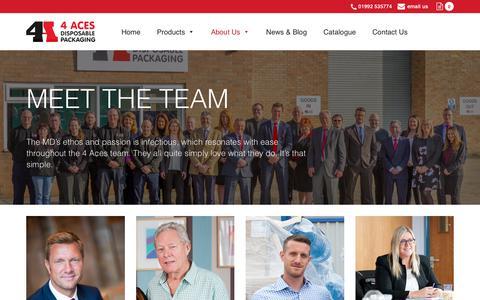 Screenshot of Team Page 4acesltd.com - 4 Aces Ltd » Meet the team - captured Sept. 20, 2018