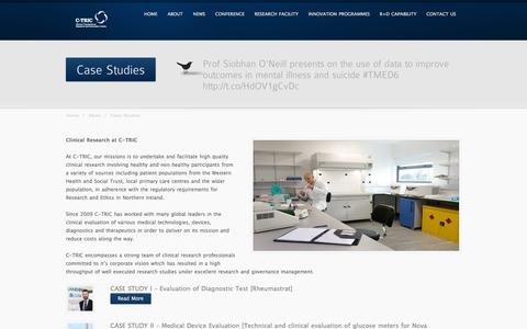 Screenshot of Case Studies Page c-tric.com - Case Studies - captured Sept. 26, 2014