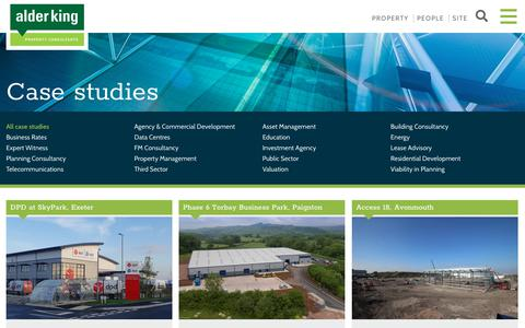 Screenshot of Case Studies Page alderking.com - Case studies - Alder King Property Consultants - captured Dec. 9, 2018