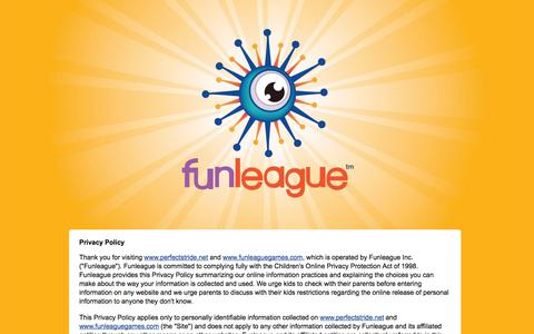 Screenshot of Privacy Page funleaguegames.com - Funleague Games for Older Kids, Younger Kids and Kids at Heart   FunleagueGames.com Privacy Policy - captured Oct. 6, 2014