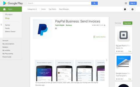 PayPal Business: Send Invoices - Apps on Google Play