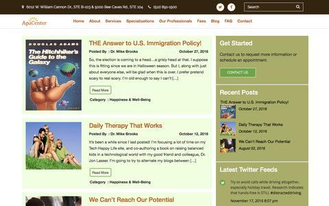 Screenshot of Blog apacenter.com - Blog - ApaCenter - captured Nov. 21, 2016