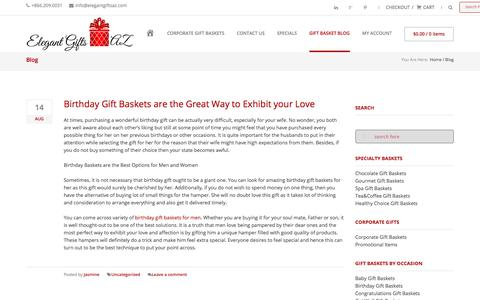 Screenshot of Blog elegantgiftsaz.com - Gift Basket Blog | Gift Basket News | Gift Basket UpdatesElegant Gifts AZ | Elegant Custom Gift Baskets - captured July 17, 2018