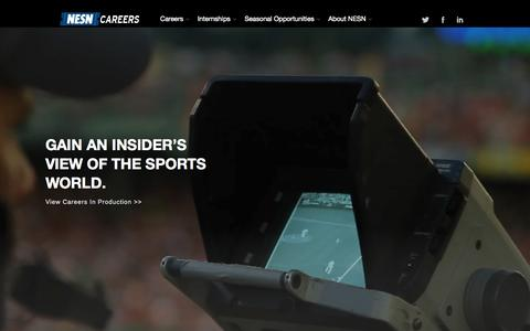 Screenshot of Jobs Page nesn.com - NESN Careers - captured Sept. 19, 2014