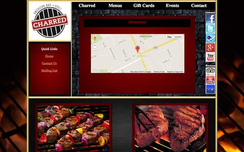 Screenshot of Maps & Directions Page charredbar.com - Directions - Charred American Bar + Grill - Mount Morris, NY - captured Oct. 2, 2014