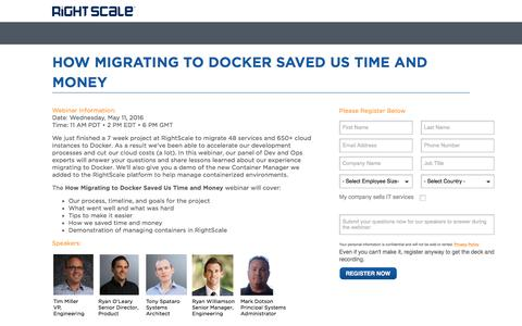 How Migrating to Docker Saved Us Time and Money