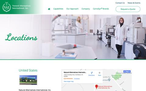 Screenshot of Locations Page nai-online.com - Locations - NAI - captured Oct. 18, 2018
