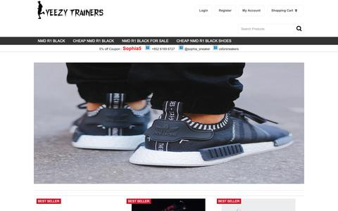 Screenshot of Home Page comstratgroup.com - adidas Originals NMD R1 Runner Colored Boost 'Triple Black' (black - captured Sept. 29, 2018