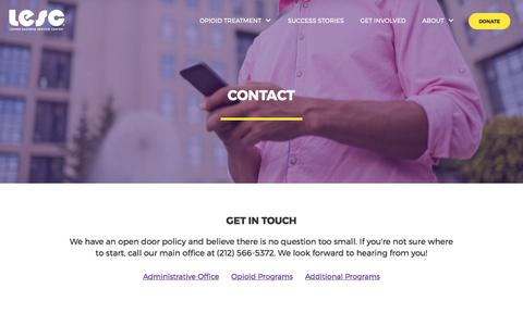 Screenshot of Contact Page lesc.org - Contact - captured Sept. 16, 2017