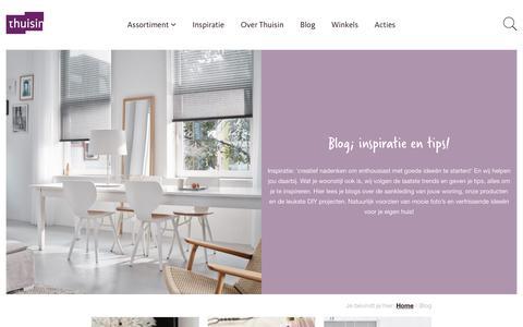 Screenshot of Blog thuisin.nl - Blog - lekker lezen én laat je inspireren op het gebied van interieur - captured Aug. 17, 2017