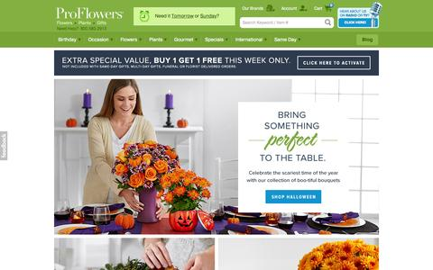 Screenshot of Home Page proflowers.com - Flowers   Online Flower Delivery   Send Flowers   ProFlowers - captured Oct. 23, 2015