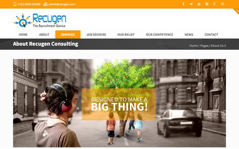Screenshot of Services Page recugen.com - Recugen Consulting - captured Oct. 26, 2014