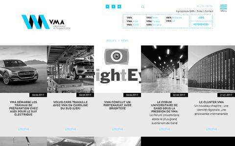 Screenshot of Press Page vma.be - News   VMA - captured Nov. 15, 2017