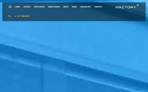 Screenshot of Case Studies Page Site Map Page ifactory.com.au - Home   iFactory Web Design Brisbane - captured Jan. 31, 2016