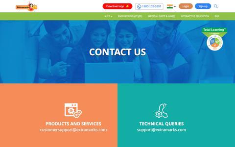Screenshot of Contact Page extramarks.com - Contact Us - Extramarks - captured Sept. 22, 2018