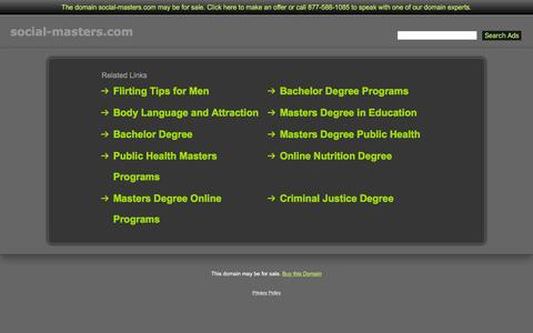 Screenshot of Home Page social-masters.com - Social-Masters.com - captured June 16, 2016