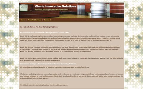 Screenshot of Home Page kinnieims.com - Home - Kinnie Innovative Solutions - captured Oct. 15, 2018