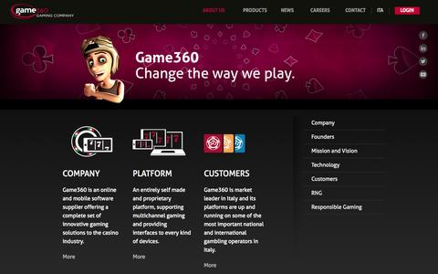 Screenshot of About Page game360.it - Game360  | Game360 Gaming Company About Us - captured Oct. 2, 2014