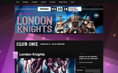 Screenshot of Home Page clubonz.nl - Club Onz - captured Sept. 30, 2014