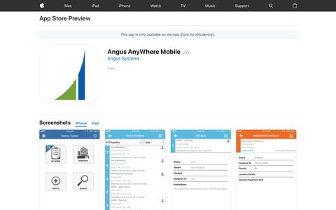 Angus AnyWhere Mobile on the App Store