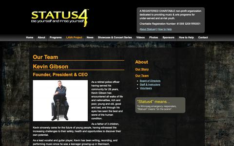 Screenshot of Team Page status4.ca - Our Team - Status 4 - Be yourself and Free yourself - captured Oct. 19, 2018
