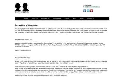 Screenshot of Terms Page communicatetv.co.uk - Communicate TV - captured Sept. 30, 2014