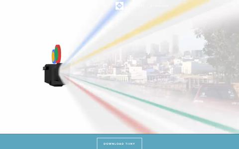 Screenshot of Home Page tiiny.com - Tiiny - captured Dec. 13, 2014