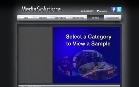Screenshot of Case Studies Page mediasolutions.net - Case Studies | Media Solutions - captured Oct. 27, 2014