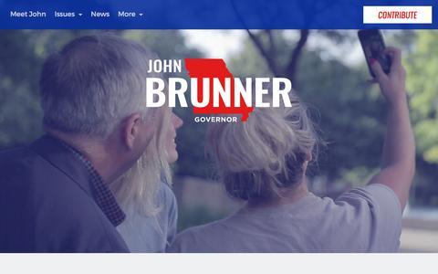 Screenshot of Home Page johnbrunner.com - John Brunner for Governor - captured March 11, 2016