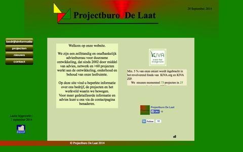 Screenshot of Home Page projectburodelaat.nl - Startpagina - captured Sept. 30, 2014