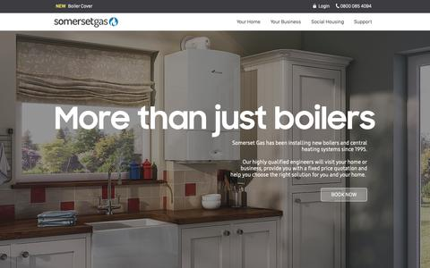 Screenshot of About Page somersetgas.co.uk - Somerset Gas   Heating Services   Somerset & Devon   About Us - captured Oct. 20, 2018