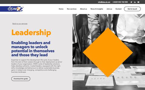 Screenshot of Team Page dswconsulting.co.uk - DSW Consulting | Leadership development - captured Dec. 13, 2018