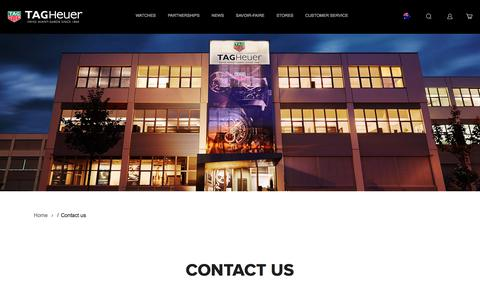 Screenshot of Contact Page tagheuer.com - Contact us | Tag Heuer - captured Sept. 23, 2018