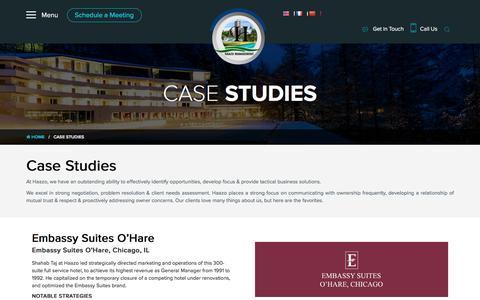 Screenshot of Case Studies Page haazoinc.com - Haazoinc » Case Studies - captured Sept. 26, 2018