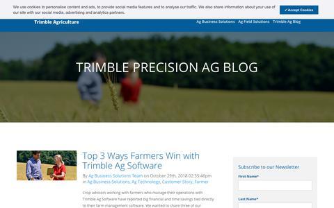 Screenshot of Blog trimble.com - Blog - Trimble Agriculture - captured Nov. 6, 2018