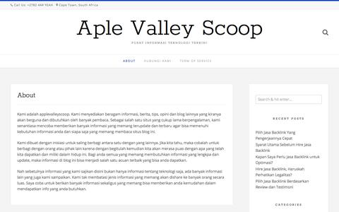 About | Aple Valley Scoop