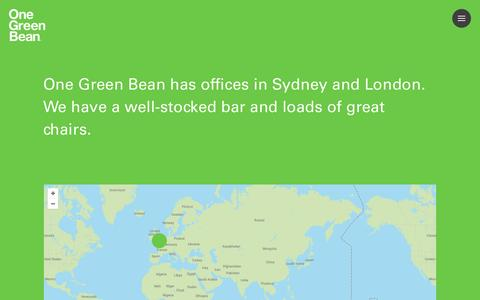 Screenshot of Contact Page onegreenbean.com - Contact - One Green Bean - captured Jan. 20, 2016