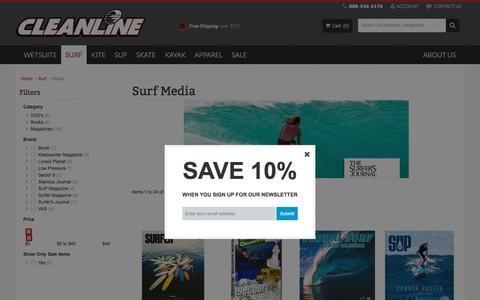 Screenshot of Press Page cleanlinesurf.com - Surf Media  - Cleanline Surf - captured July 2, 2018