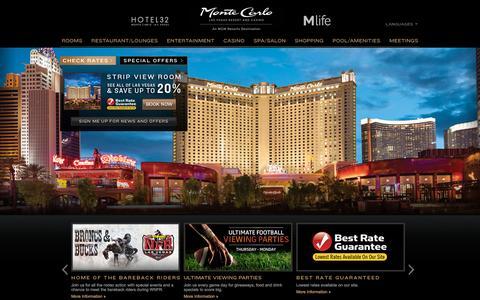 Screenshot of Home Page montecarlo.com captured Nov. 23, 2015
