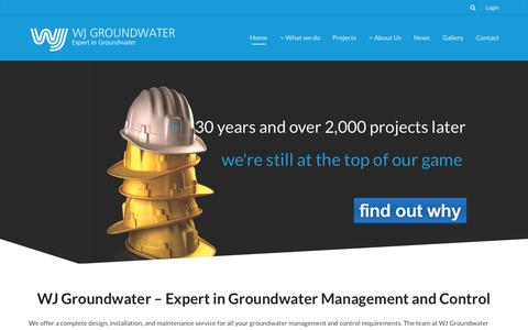 Screenshot of Home Page wjgl.com - WJ Groundwater - captured Oct. 9, 2015