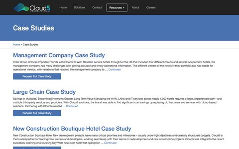 Screenshot of Case Studies Page innflux.com - Case Studies Archive - Cloud5 Communications - captured Aug. 5, 2016