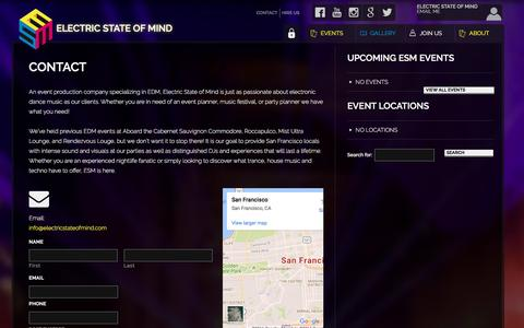 Screenshot of Contact Page electricstateofmind.com - Contact ▪ Electric State of Mind - captured Oct. 16, 2016