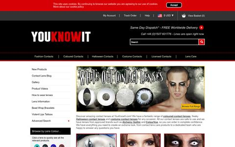 Screenshot of Home Page youknowit.com - Crazy Contact Lenses, Coloured Contact Lenses, Halloween Costume Contact Lenses and Gorgeous Fashion Contact Lenses - captured Aug. 5, 2015