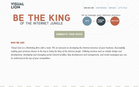 Screenshot of Home Page harborsideholdings.com - Visual Lion | Be the KING of the Internet - captured Oct. 2, 2014