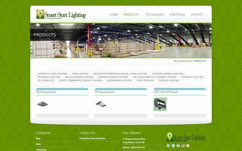 Screenshot of Products Page smartstartlighting.com - PRODUCTS - Smart Start Lighting - captured Oct. 26, 2014