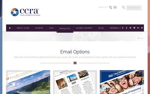 Screenshot of Menu Page ccra.com - CCRA Global Marketing Menu | CCRA Travel Commerce Network - captured June 24, 2017