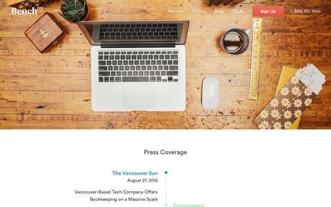 Bench — Press Coverage, Logos, and Photos.