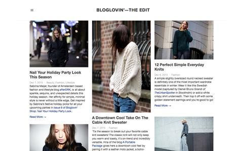 Screenshot of Blog bloglovin.com - Bloglovin'—the Edit - captured Dec. 7, 2015