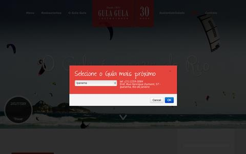 Screenshot of Blog gulagula.com.br - Blog | Gula Gula Restaurante - captured Sept. 25, 2014