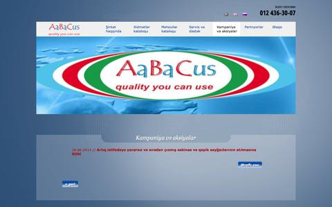 Screenshot of Press Page aabacus.com - Kampaniya və aksiyalar - AaBaCus - captured Oct. 4, 2014
